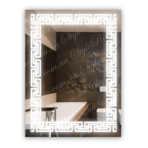 Зеркало с Led подсветкой D6 (600×800мм)