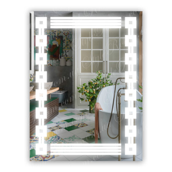 Зеркало с Led подсветкой D10 (600×800мм)