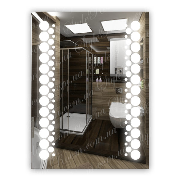Зеркало с Led подсветкой D14 (600×800мм)