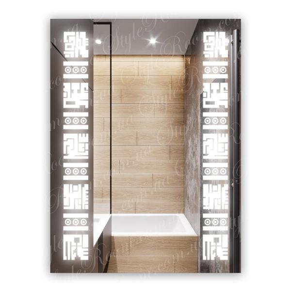 Зеркало с Led подсветкой D19 (600×800мм)