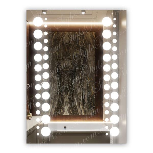 Зеркало с Led подсветкой D20 (600×800мм)