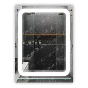 Зеркало с Led подсветкой D28 (600×800мм) с полкой