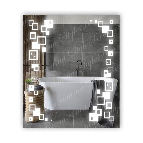 Зеркало с Led подсветкой D32 (680×800мм)