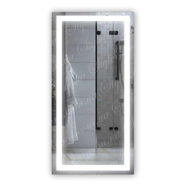 Зеркало с Led подсветкой D62 (600×1200мм)