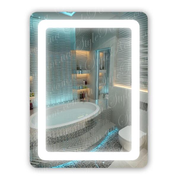 Зеркало с Led подсветкой D18 (600×800мм)