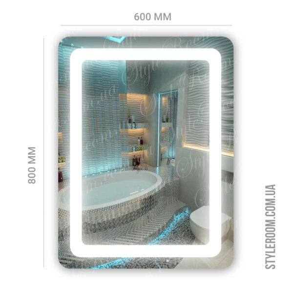 Зеркало с Led подсветкой D18 (600×800мм)2