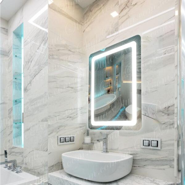 Зеркало с Led подсветкой D18 (600×800мм)1