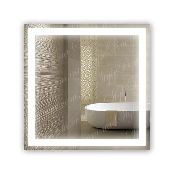 Зеркало с Led подсветкой D40 (800×800мм)