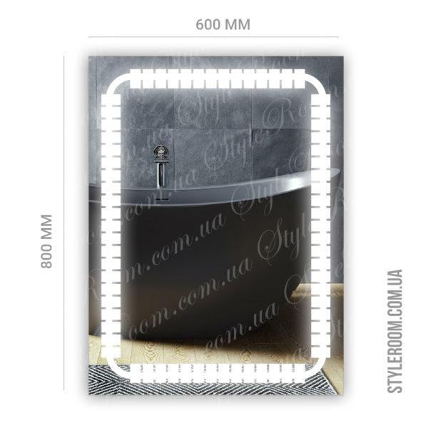 Зеркало с Led подсветкой D64 (600×800мм)-2