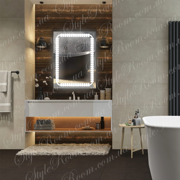 Зеркало с Led подсветкой D64 (600×800мм)-1