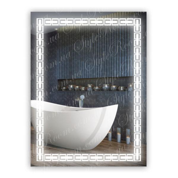 Зеркало с Led подсветкой D67 (600×800мм)