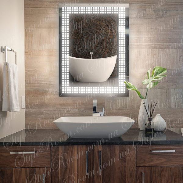 Зеркало с Led подсветкой D68 (600×800мм)-1