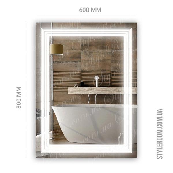 Зеркало с Led подсветкой D71 (600×800мм)-2