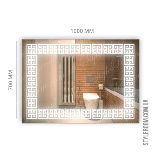 Зеркало с Led подсветкой D74 (1000×700мм)-2