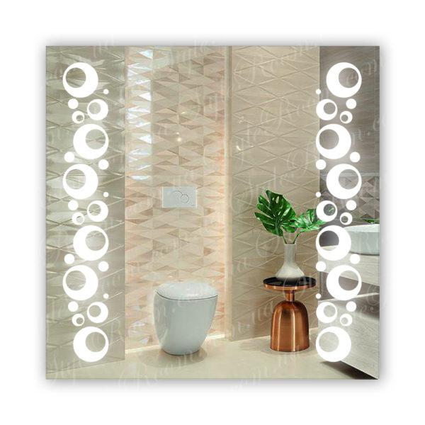 Зеркало с Led подсветкой D75 (800×800мм)