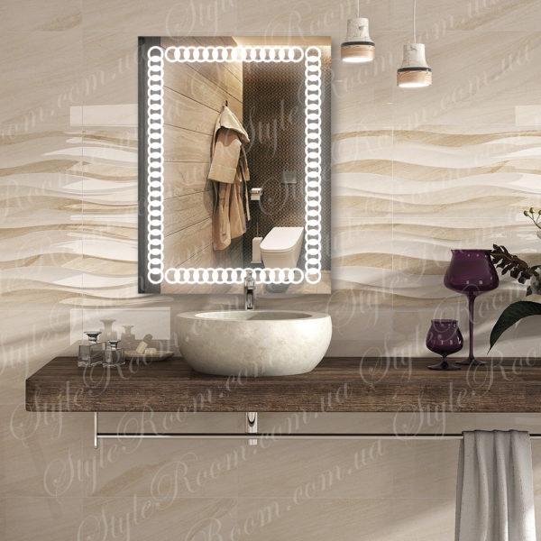 Зеркало с Led подсветкой D79 (600×800мм)-1