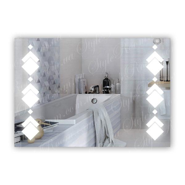 Зеркало с Led подсветкой D82 (1000×700мм)