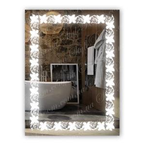 Зеркало с Led подсветкой D85 (600×800мм)