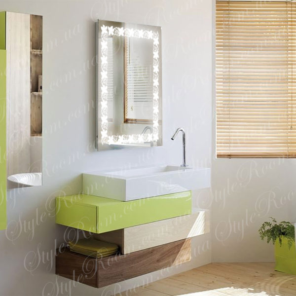 Зеркало с Led подсветкой D85 (600×800мм)-1