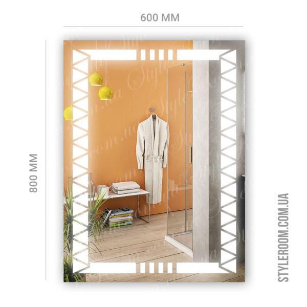 Зеркало с Led подсветкой D86 (600×800мм)-2