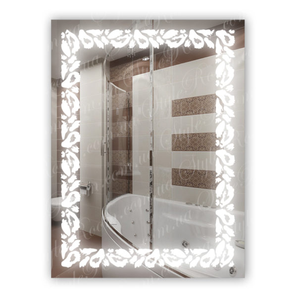 Зеркало с Led подсветкой D89 (600×800мм)
