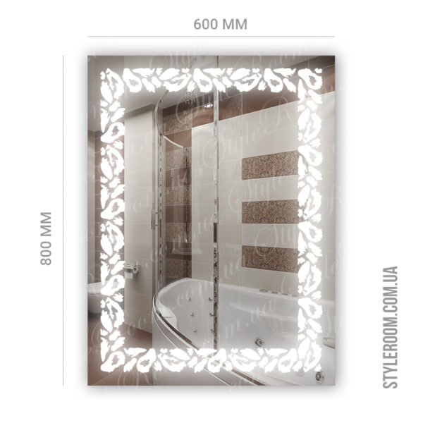 Зеркало с Led подсветкой D89 (600×800мм)-2