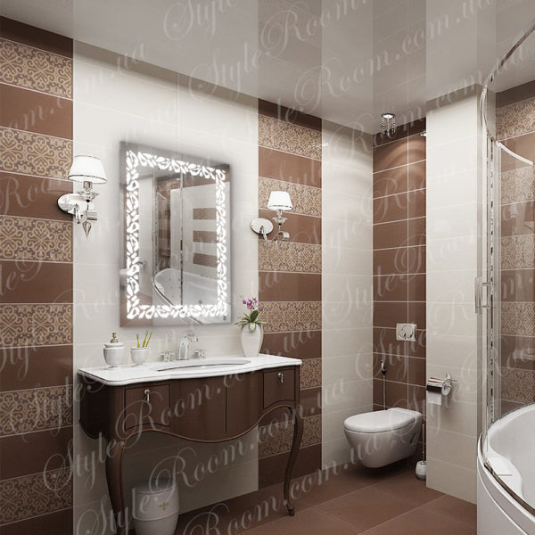 Зеркало с Led подсветкой D89 (600×800мм)-1
