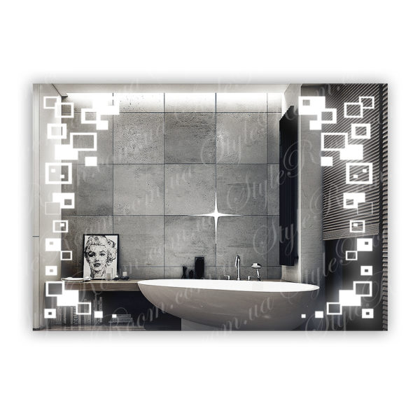 Зеркало с Led подсветкой D91 (1000×700мм)