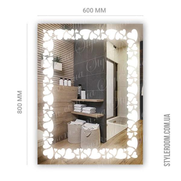 Зеркало с Led подсветкой D92 (600×800мм)-2