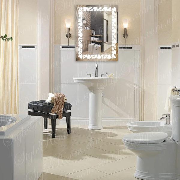 Зеркало с Led подсветкой D92 (600×800мм)-1