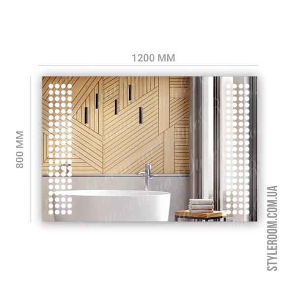 Зеркало с Led подсветкой D94 (1200×800мм)-2
