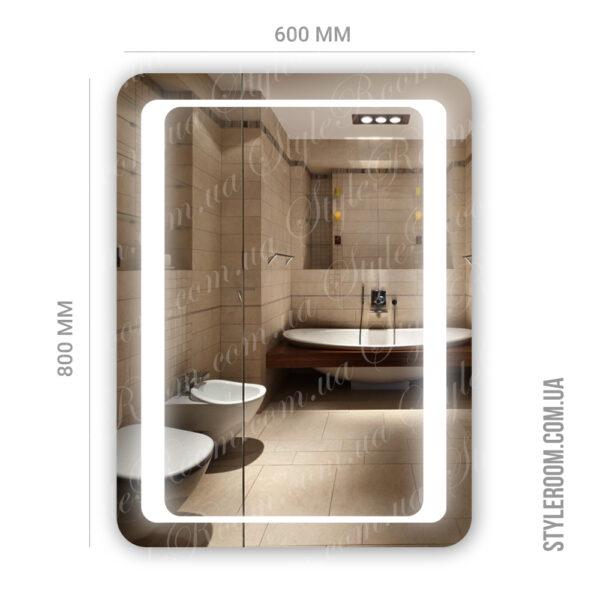 Зеркало с Led подсветкой D78 (600×800мм)2