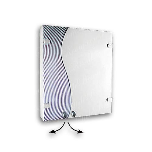 Зеркальный шкаф для ванной Ш841 (535×640мм)