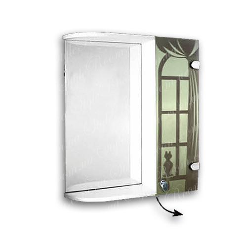 Зеркальный шкаф для ванной Ш846 (535×640мм)