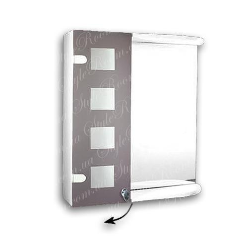 Зеркальный шкаф для ванной Ш847 (535×640мм)