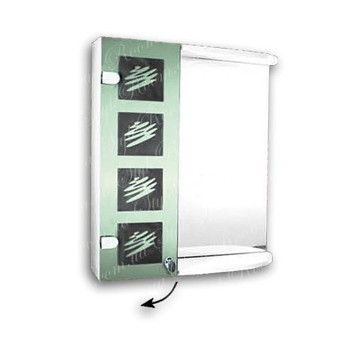 Зеркальный шкаф для ванной Ш849 (535×640мм)