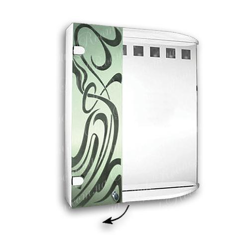 Зеркальный шкаф для ванной Ш852 (600×700мм)