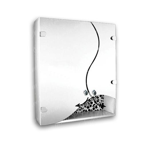 Зеркальный шкаф для ванной Ш854 (600×700мм)