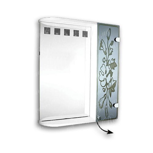 Зеркальный шкаф для ванной Ш857 (600×700мм)