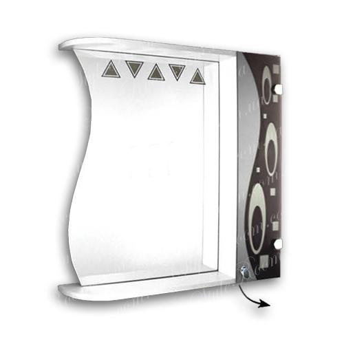 Зеркальный шкаф для ванной Ш874 (800×700мм)