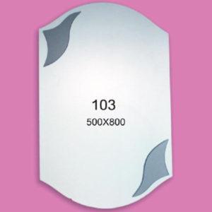 Зеркало для ванной комнаты F103 (500х800мм)