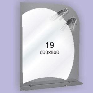 Зеркало для ванной комнаты F19 (600х800мм)