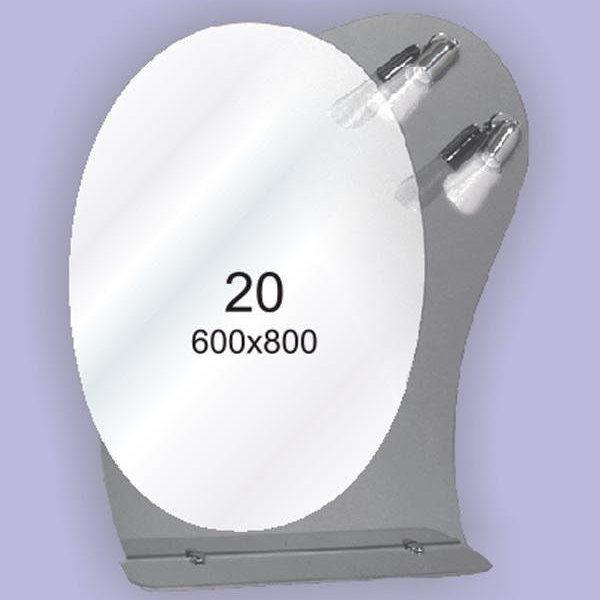 Зеркало для ванной комнаты F20 (600х800мм)
