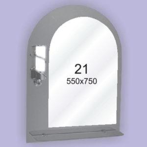 Зеркало для ванной комнаты F21 (550х750мм)