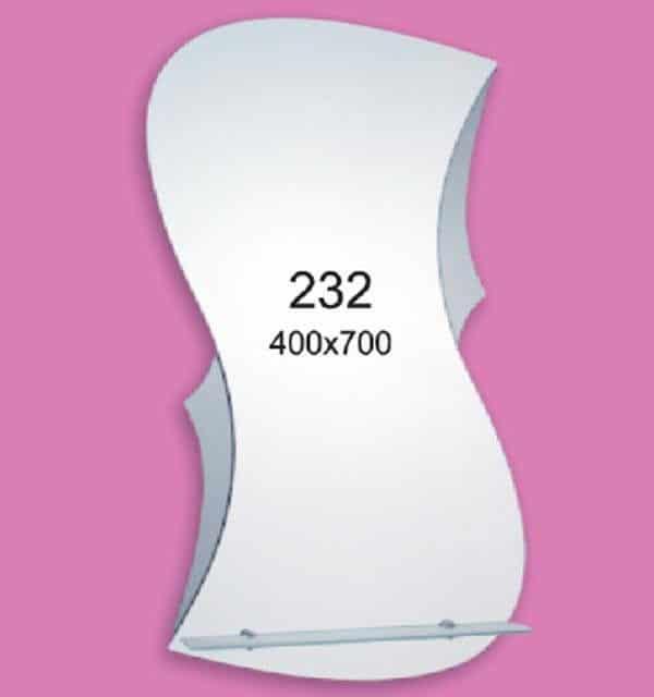 Зеркало для ванной комнаты F232 (400х700мм)