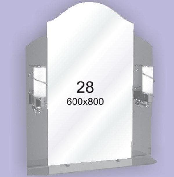 Зеркало для ванной комнаты F28 (600х800мм)