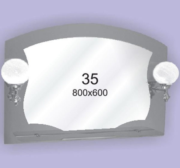 Зеркало для ванной комнаты F35 (800х600мм)