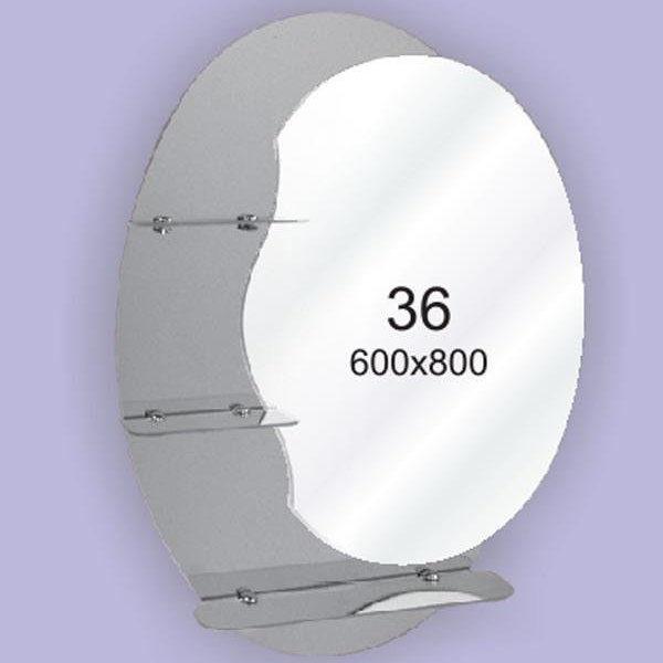 Зеркало для ванной комнаты F36 (600х800мм)