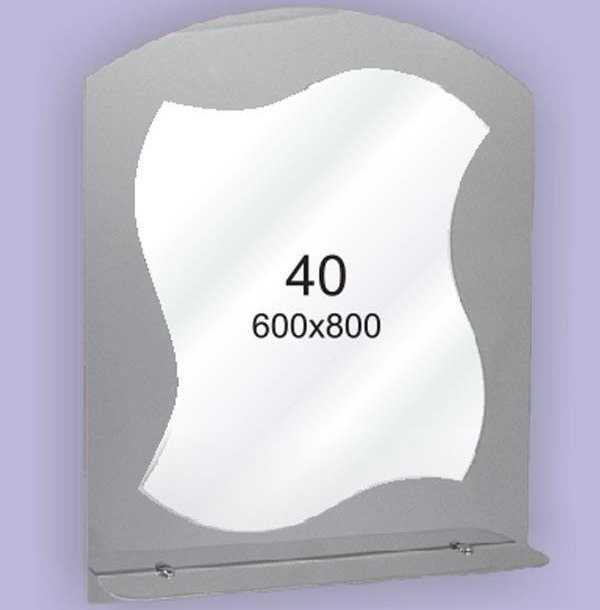 Зеркало для ванной комнаты F40 (600х800мм)
