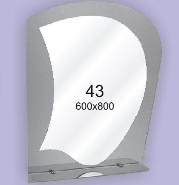 Зеркало для ванной комнаты F43 (600х800мм)